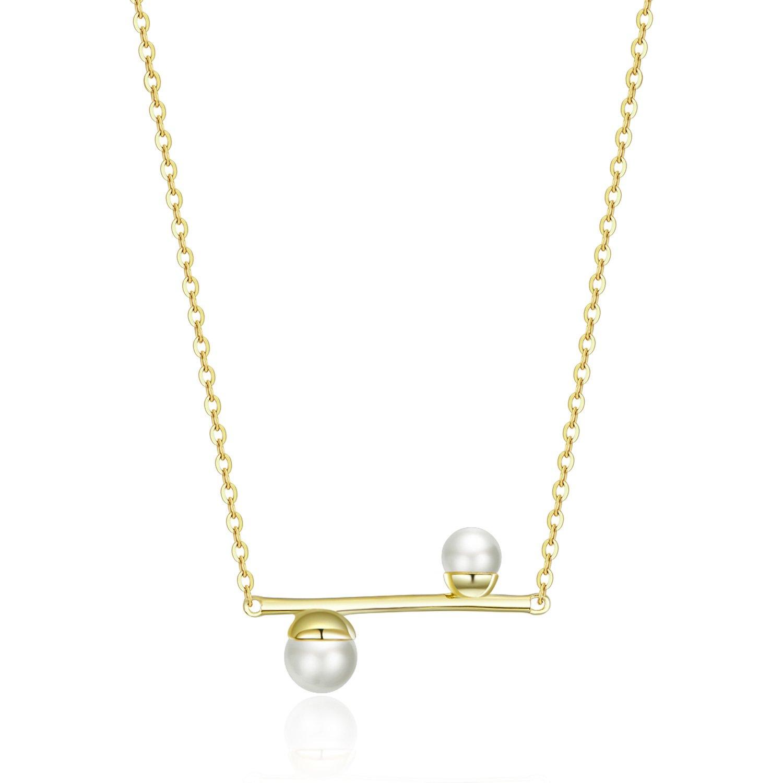 Colier din argint Double Precious Pearls poza 2021