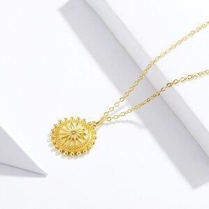 Colier din argint Golden Sun Coin