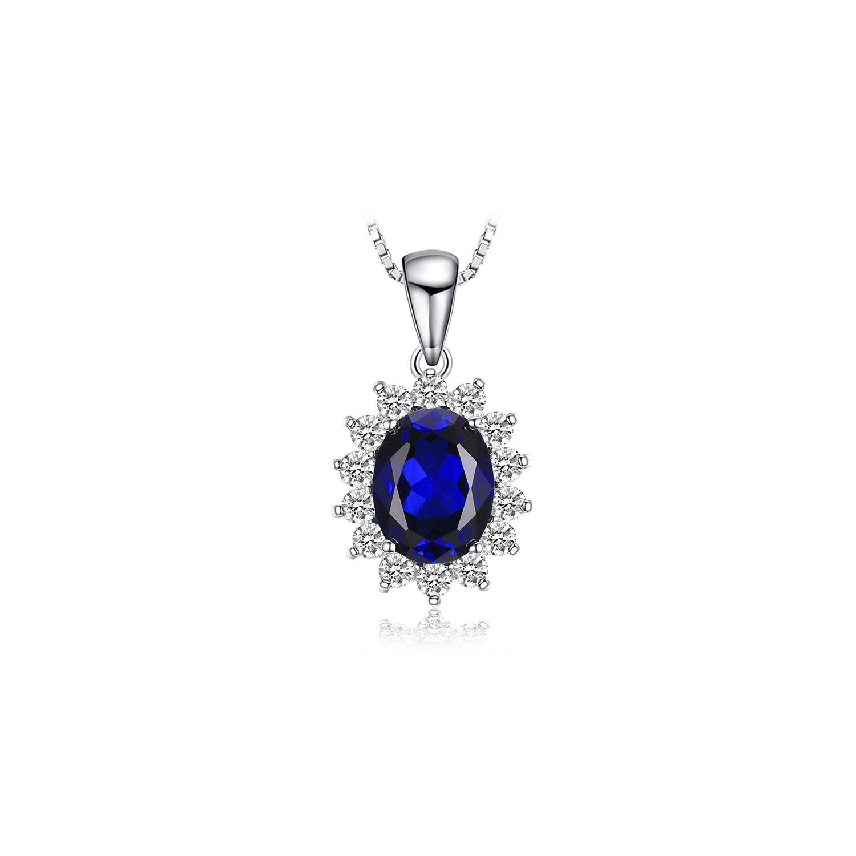 Colier din argint Kate's Elegant Sapphire poza 2021