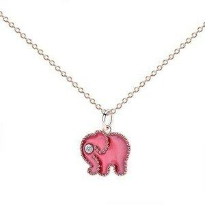Colier din argint Little Pink Elephant