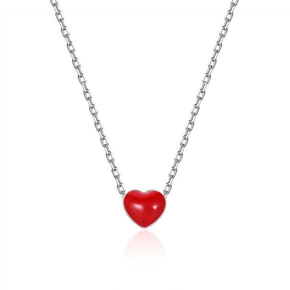 Colier din argint Little Red Heart