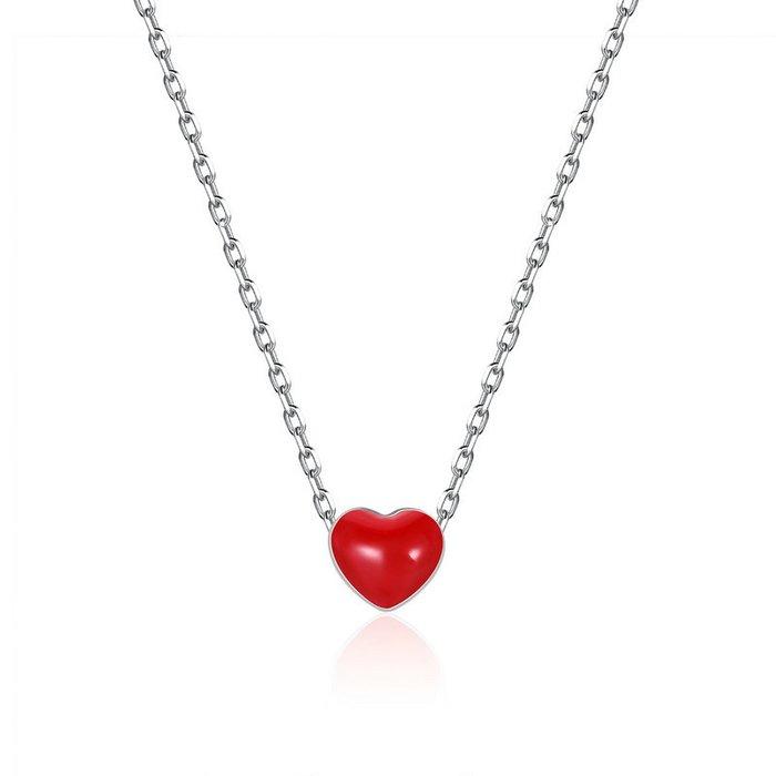 Colier din argint Little Red Heart poza 2021