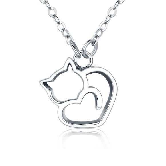 Colier din argint Lovely Cat