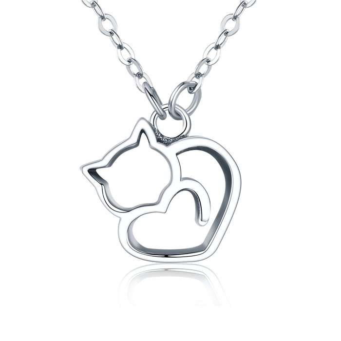 Colier din argint Lovely Cat poza 2021