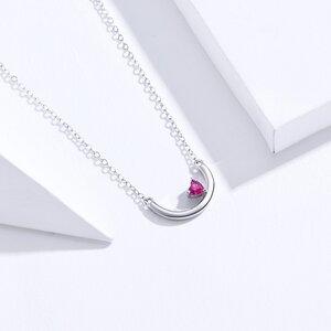 Colier din argint Moony Red Heart
