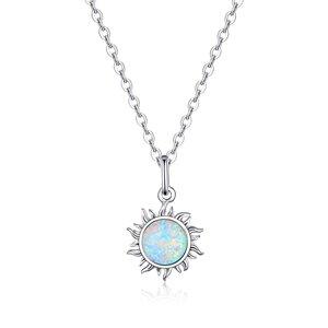 Colier din argint Opal Sun