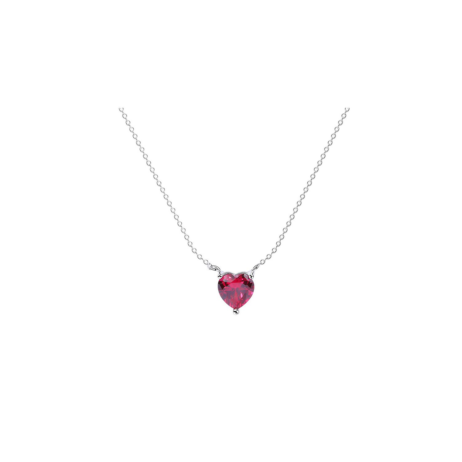 Colier din argint Perfect Red Heart