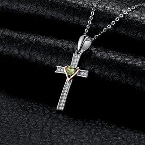 Colier din argint Peridot Cross