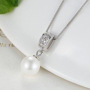Colier din argint Precious Pearl Look