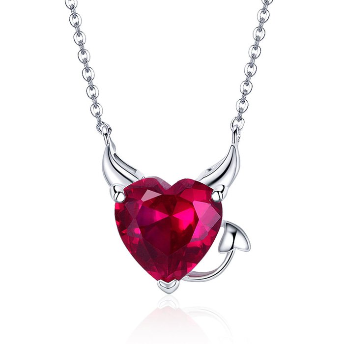 Colier din argint Red Heart Devil poza 2021