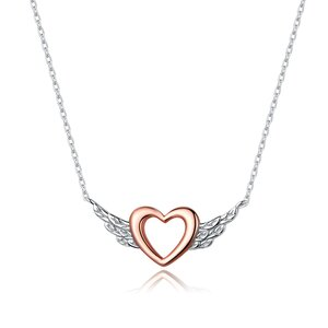 Colier din argint Rose Gold Angel Heart