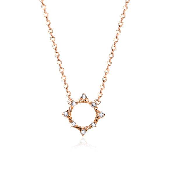 Colier din argint Rose Gold Stars