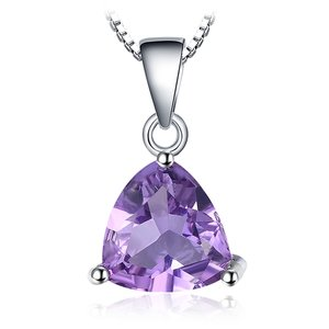 Colier din argint Triangle Amethyst