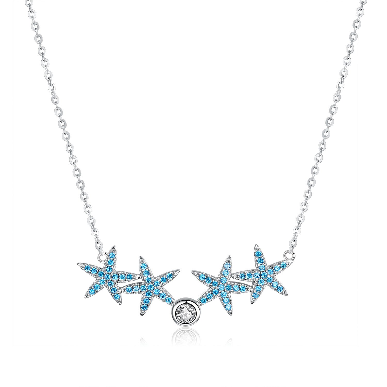 Colier din argint Turquoise Sea Stars poza 2021