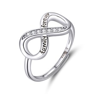 Inel din argint Adjustable Infinite Ring