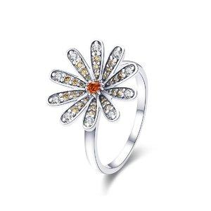 Inel din argint Big Daisy Flower