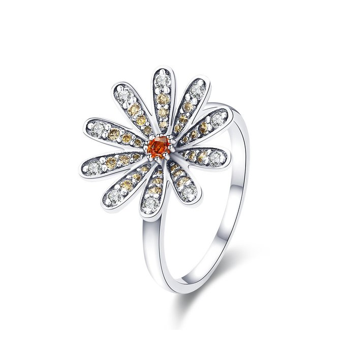 Inel din argint Big Daisy Flower poza 2021