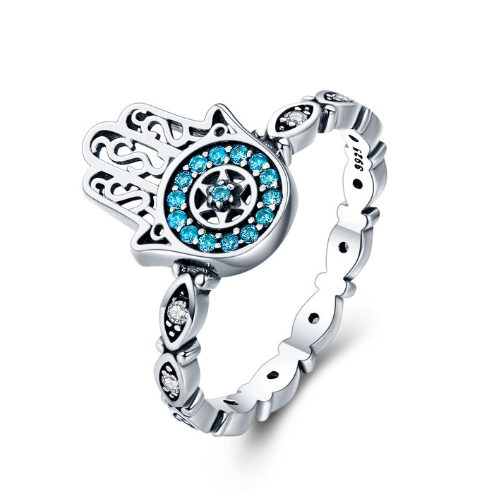 Inel din argint Blue Fatima poza 2021