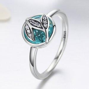 Inel din argint cu Frunze si Cristale