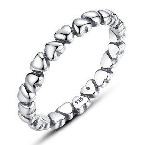 Inel din argint cu Inimi Infinite