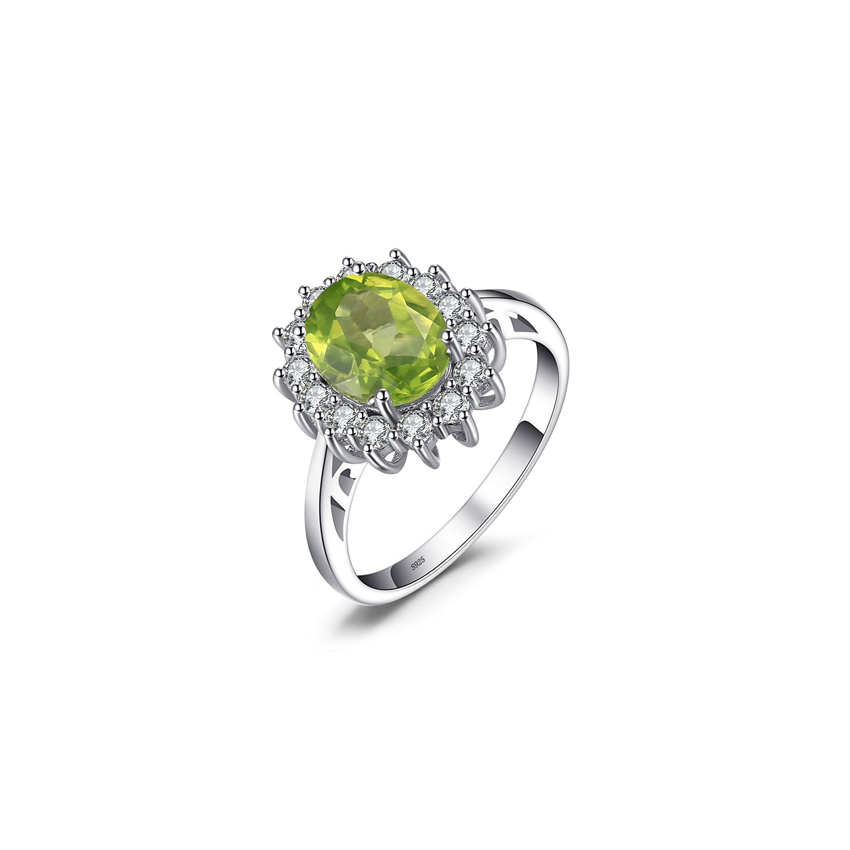 Inel din argint Diana's Peridot Ring poza 2021