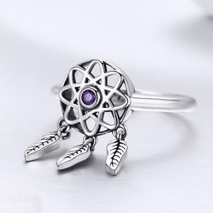 Inel din argint Dream Catcher purple