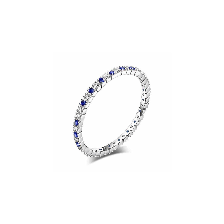 Inel din argint Eternity Blue Spinel poza 2021