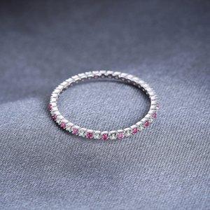 Inel din argint Eternity Ruby
