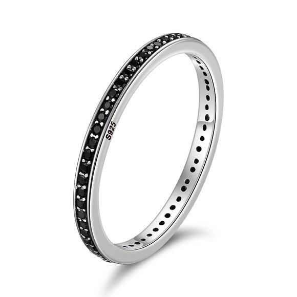 Inel din argint Fashion Band black