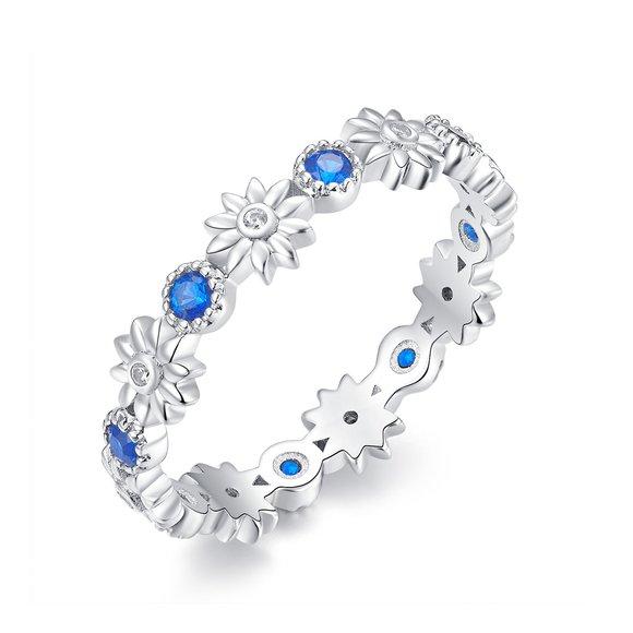 Inel din argint Flowers Crown