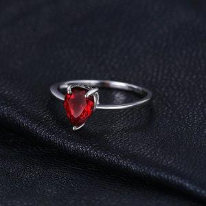 Inel din argint Garnet Drop