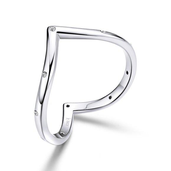 Inel din argint Heart Shape Ring
