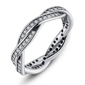 Inel din argint Impletit cu Stralucire Patinata