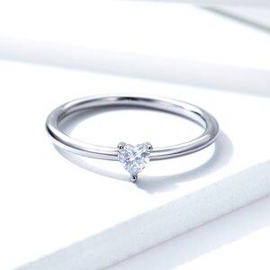 Inel din argint Petite Clear Heart