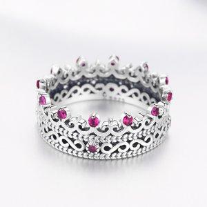 Inel din argint Princess Pink Crown