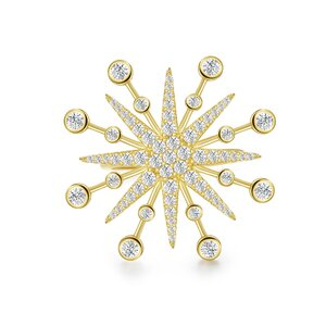 Inel din argint reglabil Amazing Gold Star