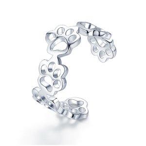 Inel din argint reglabil cu Labute Argintii
