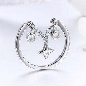 Inel din argint reglabil Stars Link