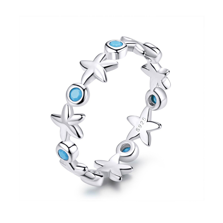 Inel din argint Silver Starfish Ring poza 2021
