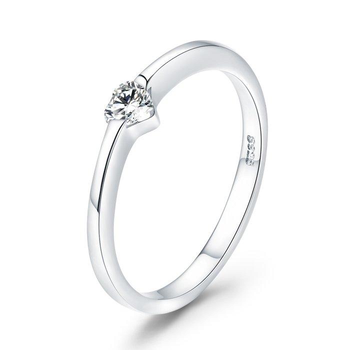 Inel din argint Simple Heart Ring poza 2021