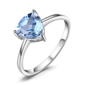 Inel din argint Triangle Blue Topaz