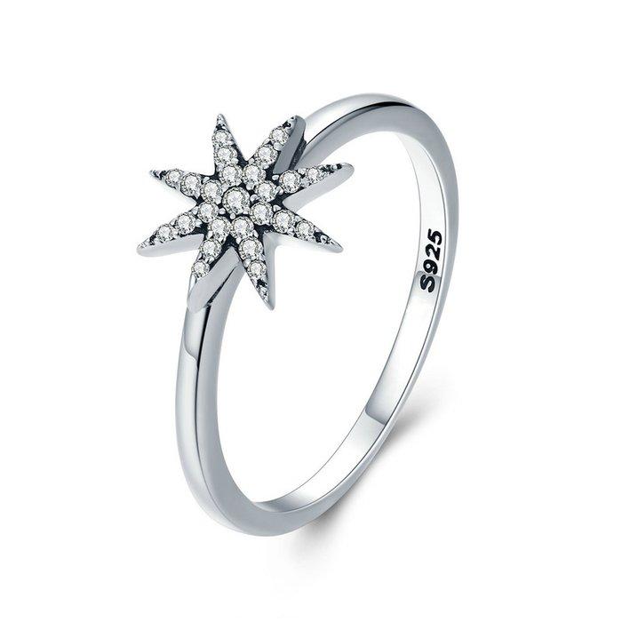 Inel din argint Unique Sparkling Star poza 2021