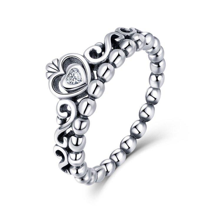 Inel din argint Vintage Crown Ring poza 2021