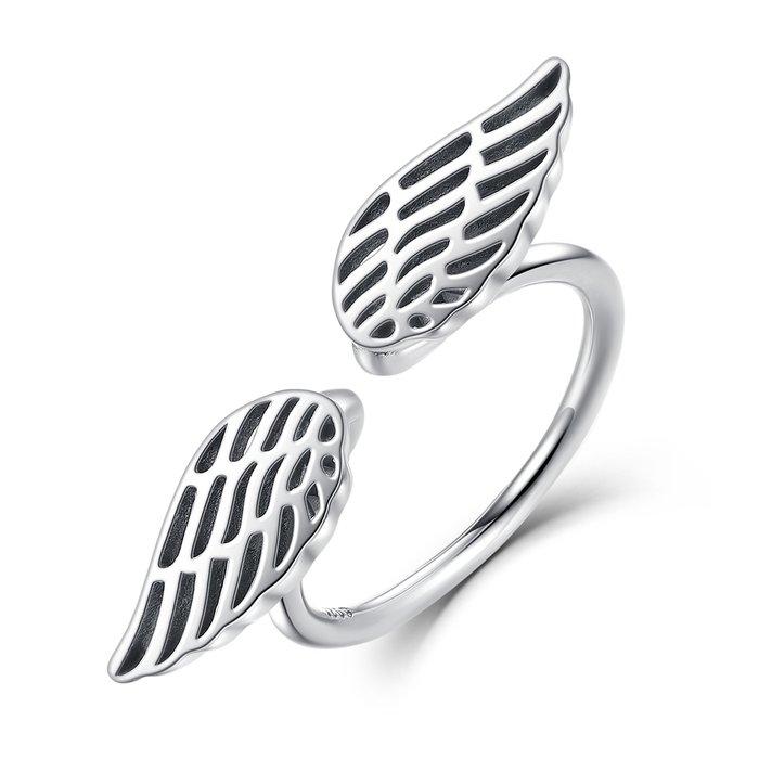 Inel reglabil din argint cu Aripi Uimitoare poza 2021