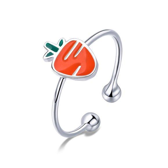 Inel reglabil din argint Cute Carrot