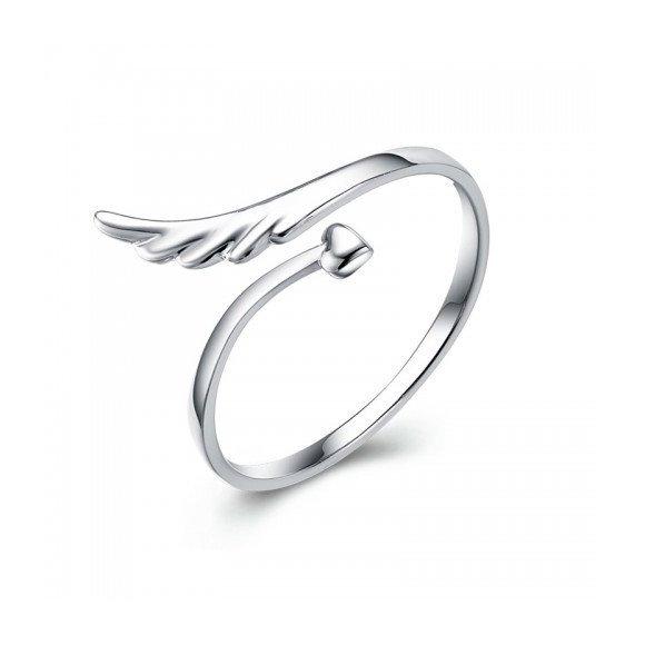 Inel reglabil din argint Lost Wing