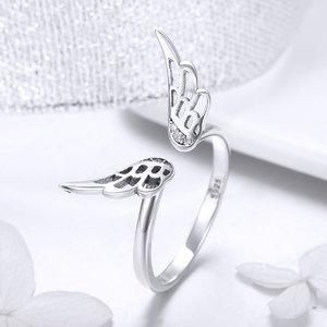 Inel reglabil din argint Silver Angel Wings