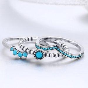 Set inele din argint Turquoise Dream