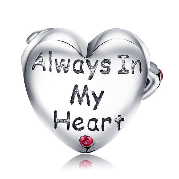 Talisman din argint Always in my Heart