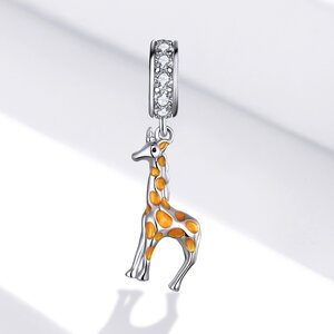 Talisman din argint Beautiful Giraffe